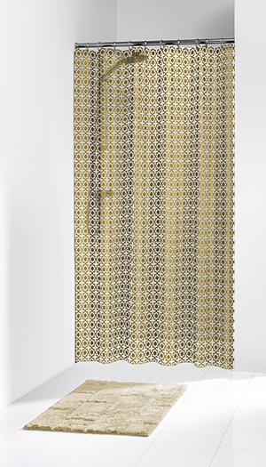 """Κουρτίνα Πλαστική """"Hammam Gold"""" Sealskin (180×200εκ.) – sealskin – 210861349"""