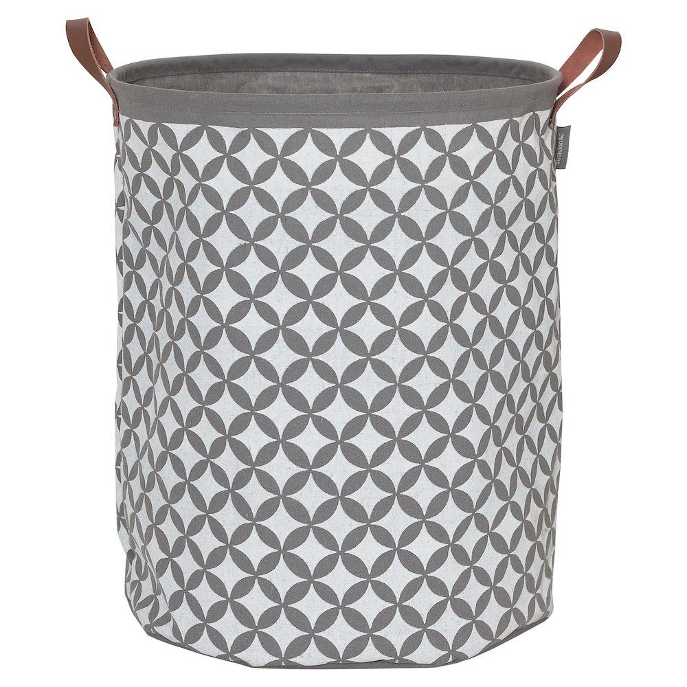 Καλάθι Απλύτων Υφασμάτινο «Diamonds Grey» 50×40εκ. sealskin – sealskin – 362302012