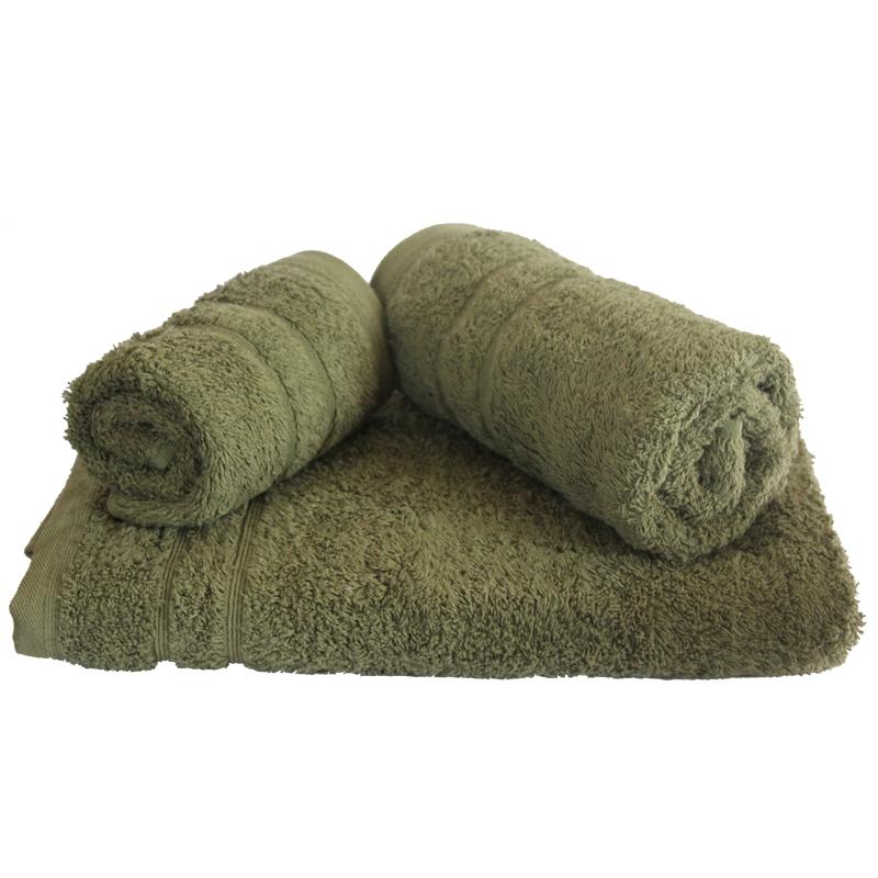 Σετ πετσέτες 3τμχ 500gr/m2 Sena Xaki 24home – 24home.gr – 24-sena-xaki