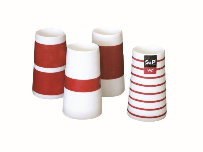 Αυγοθήκες Σετ 4τμχ Πορσελάνινες Red S&P CFWSP10222 – Salt & Pepper – CFWSP10222