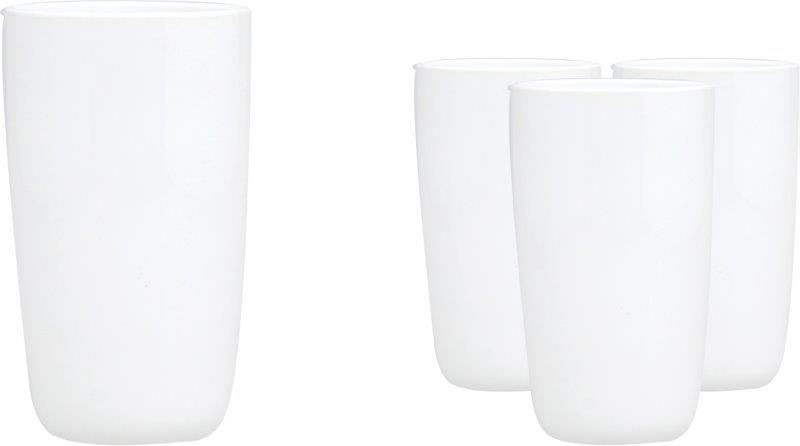 Ποτήρια Νερού Σετ 4τμχ Γυάλινα White S&P BAM37314 (Υλικό: Γυαλί) – Salt & Pepper – BAM37314