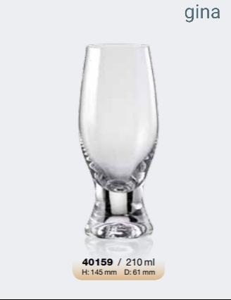 Σετ 6τμχ Ποτήρι Τσεχίας Gina 210ml - AB - 6-gina-210 κουζινα ποτήρια