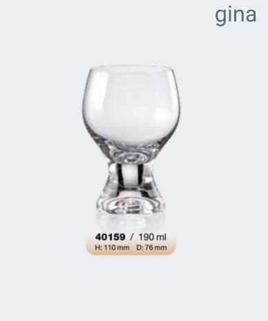 Σετ 6τμχ Ποτήρι Τσεχίας Gina 190ml - AB - 6-gina-190 κουζινα ποτήρια