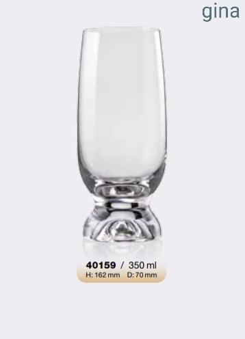 Σετ 6τμχ Ποτήρι Τσεχίας Gina 350ml – AB – 6-gina-350