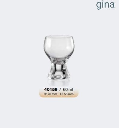 Σετ 6τμχ Ποτήρι Λικέρ Τσεχίας Gina 60ml - AB - 6-gina-60 κουζινα ποτήρια