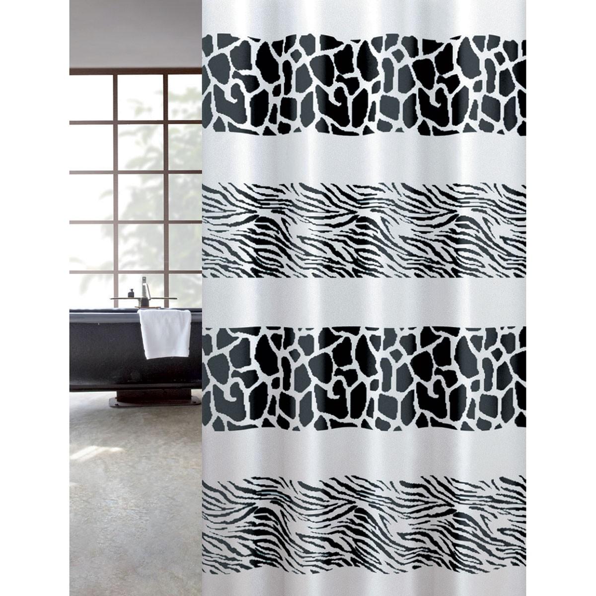 Κουρτίνα Μπάνιου Υφασμάτινη Zebra Joy Bath 180x200εκ. - Joy Bath Accessories - z μπανιο κουρτίνες μπάνιου