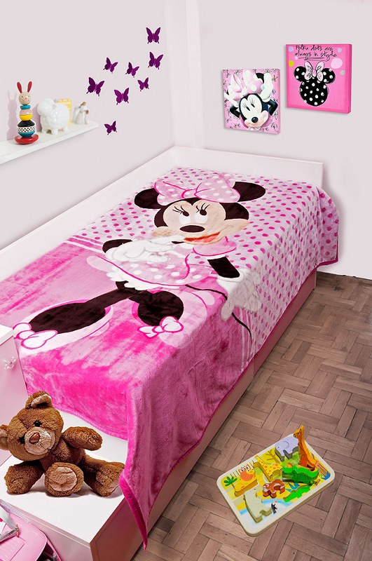 Κουβέρτα Μονή Βελουτέ 160×220εκ. Minnie 551 Dim Collection – Disney – 2520225601155199