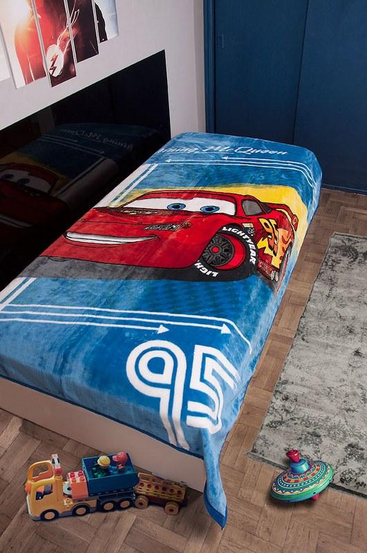 Κουβέρτα Μονή Βελουτέ Cars 095 Dim Collection - Disney - cars-095-bl λευκα ειδη παιδί κουβέρτες παιδικές