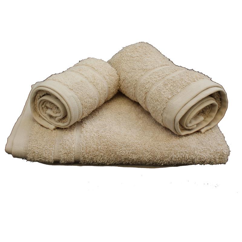 Σετ πετσέτες 3τμχ 500gr/m2 Sena Sand 24home - 24home.gr - 24-sena-sand λευκα ειδη mπάνιο πετσέτες μπάνιου