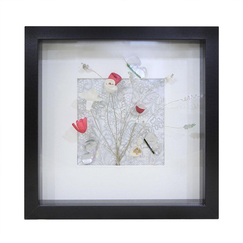 Κάδρο Με Τριασδιάστατη Παράσταση – Κουκούλια 25×25εκ. – OEM – kadro-koukouli-black