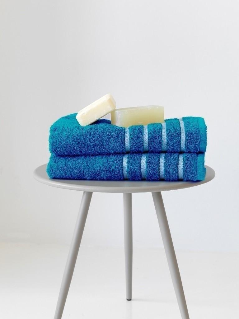 Πετσέτες Μπάνιου Σετ 2τμχ Sb home Reflection Petrol - Sb home - reflection-petro λευκα ειδη mπάνιο πετσέτες μπάνιου