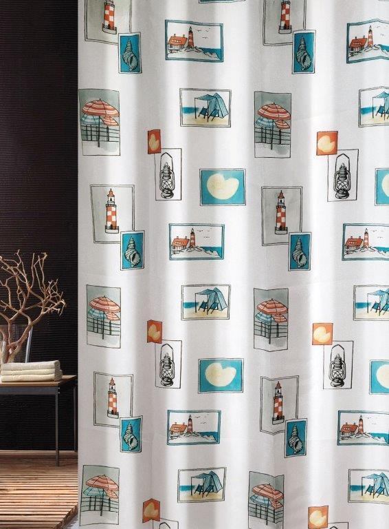 Κουρτίνα Μπάνιου Υφασμάτινη Seaside Joy Bath 180×200εκ. – Joy Bath Accessories – 002-00008