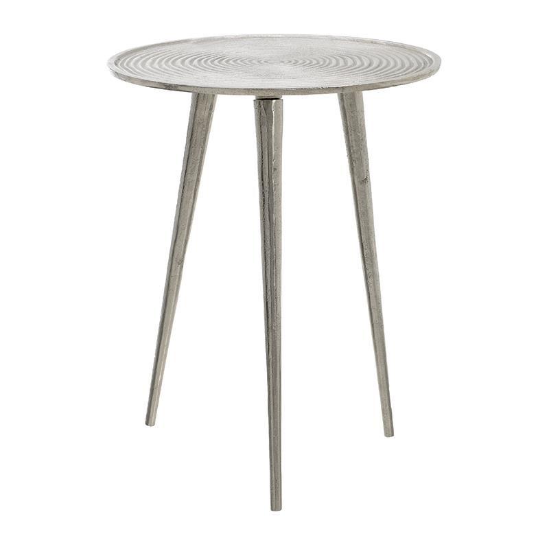 Τραπέζι Μεταλλικό Επινικελωμένο 39x39x51εκ. inart 3-50-357-0004 (Υλικό: Μεταλλικό) - inart - 3-50-357-0004