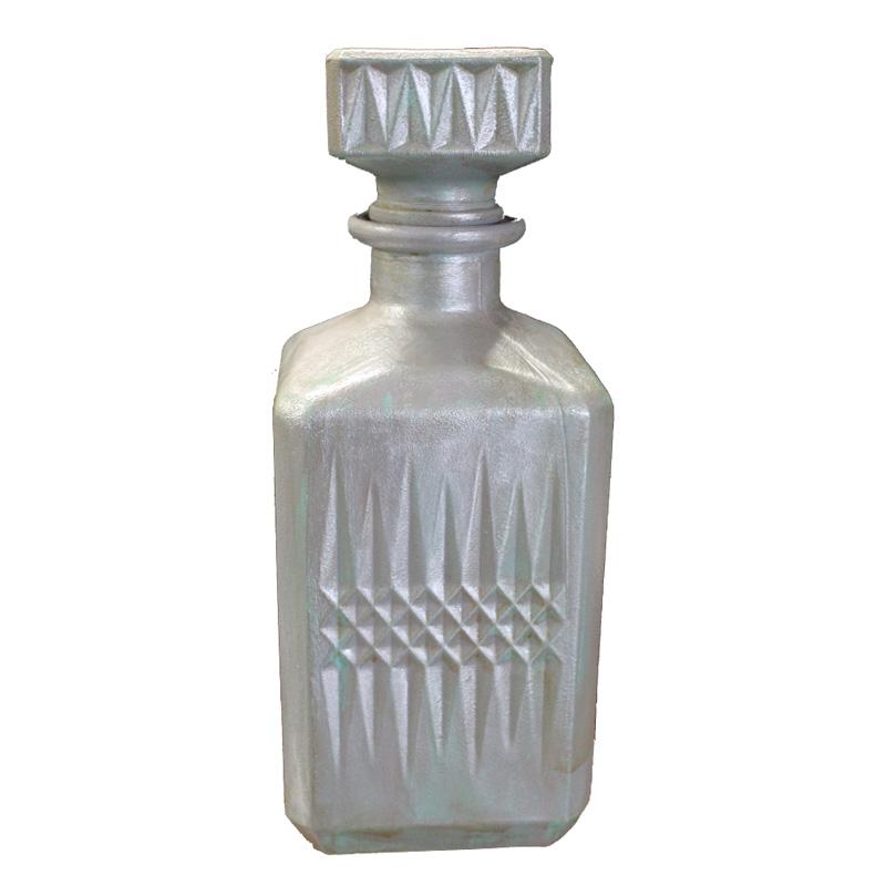 Διακοσμητικό Μπουκάλι Γυάλινο Αντικέ 8,5×23,5εκ. – OEM – mpoukali-green