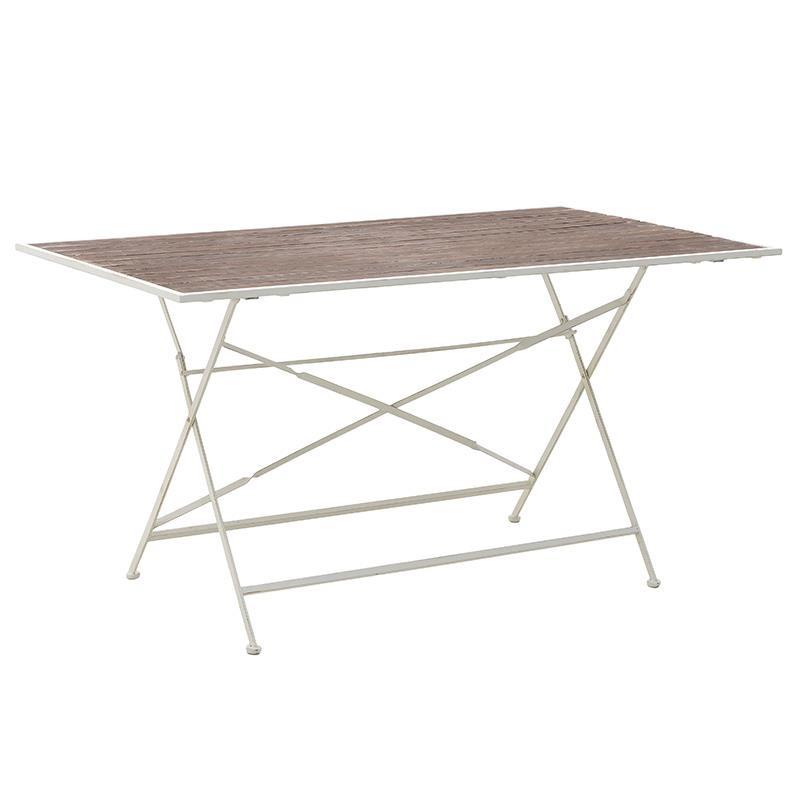 Τραπέζι Μεταλλικό – Ξύλινο 143,5x84x75,5εκ. inart 3-50-052-0011 – inart – 3-50-052-0011