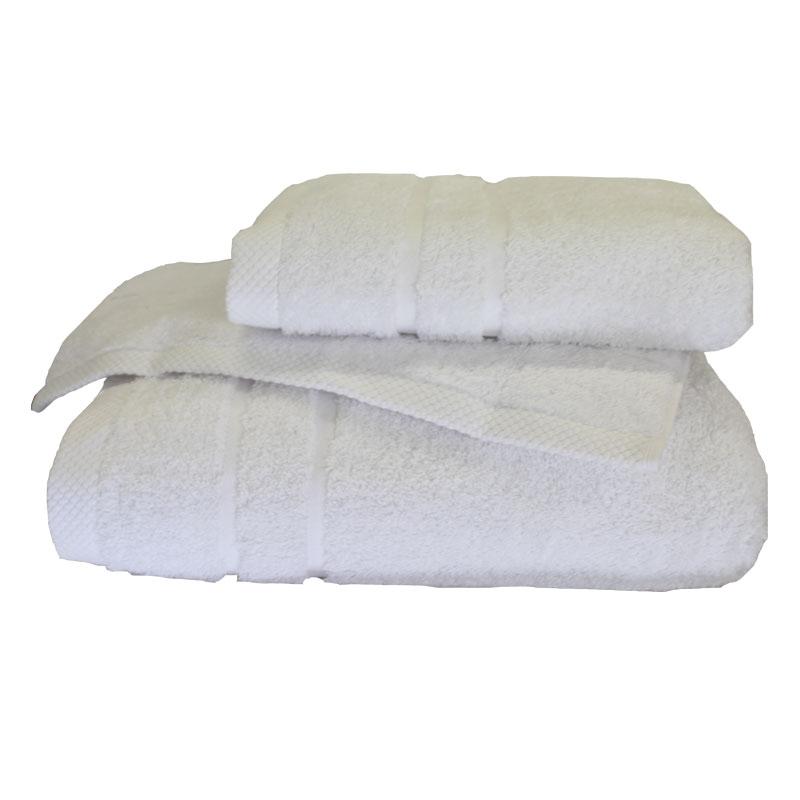 Σετ πετσέτες 3τμχ 600gr/m2 Dora White 24 home - 24home.gr - 24-dora-white λευκα ειδη mπάνιο πετσέτες μπάνιου