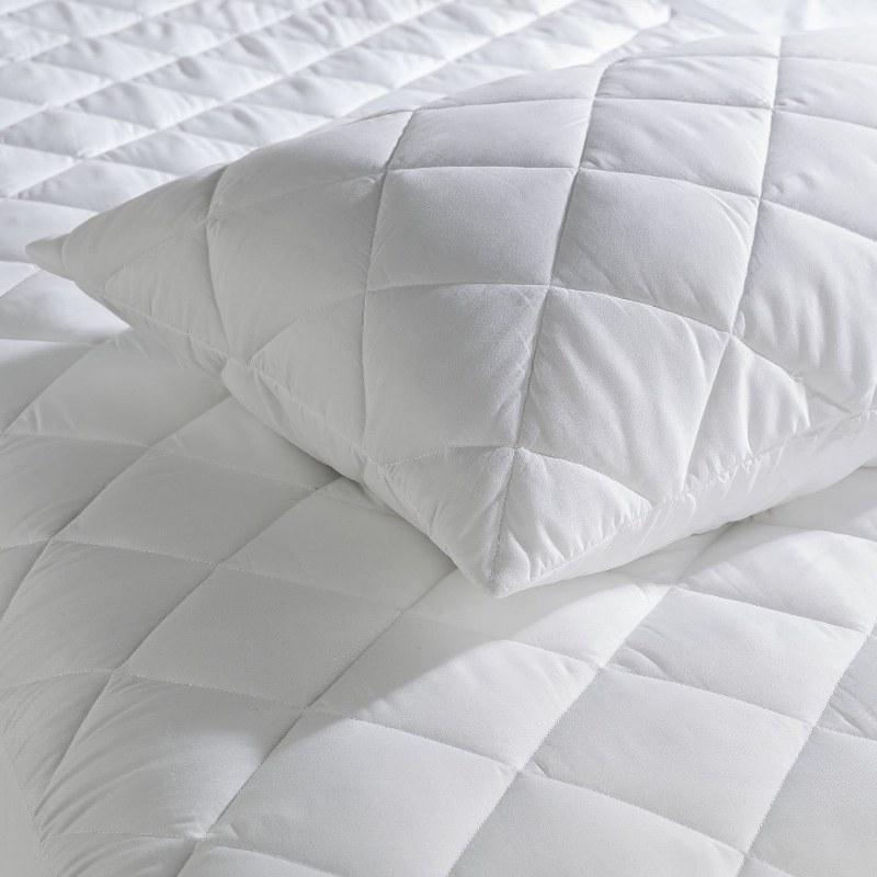 Προστατευτικό Ζεύγος Μαξιλαροθήκες Καπιτονέ Βαμβακερές Le Blanc Λευκό (Ύφασμα: Βαμβάκι 100%, Χρώμα: Λευκό) - Le Blanc - pillow cases-cotton