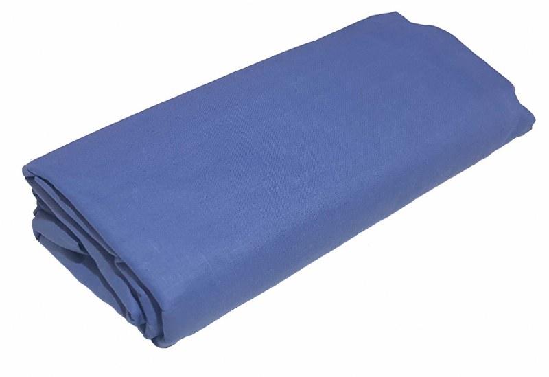 Σεντόνι Υπέρδιπλο με Λάστιχο Μεμονωμένο 170χ200+20εκ. Blue (Ύφασμα: 50%Cotton-50%Polyester, Χρώμα: Μπλε) – KOMVOS HOME – memon-last-blue-sent3
