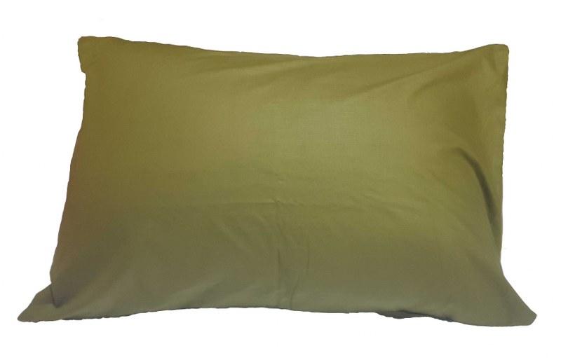 Ζεύγος Μαξιλαροθήκες Μονόχρωμες 50χ70εκ. Army Green (Ύφασμα: 50%Cotton-50%Polyester, Χρώμα: Χακί) – KOMVOS HOME – memon-max-armygreen