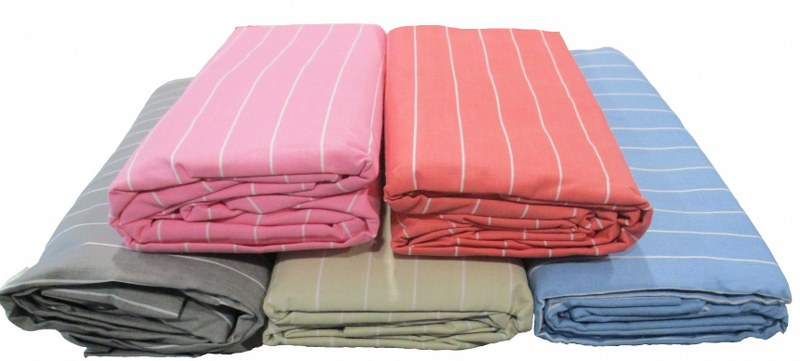 Σεντόνι Υπέρδιπλο με Λάστιχο Μεμονωμένο Stripe Beige (Ύφασμα: 50%Cotton-50%Polyester) – KOMVOS HOME – stripe-memon-last-sent3-beige