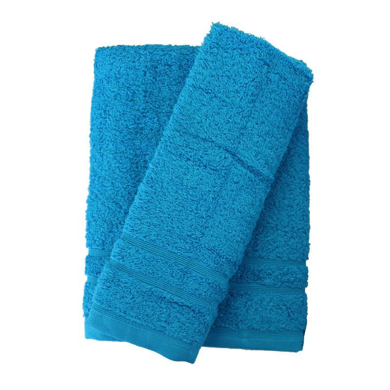 Σετ πετσέτες 2τμχ 500gr/m2 Sena Cyan 24home – 24home.gr – 24-sena-cyan-2