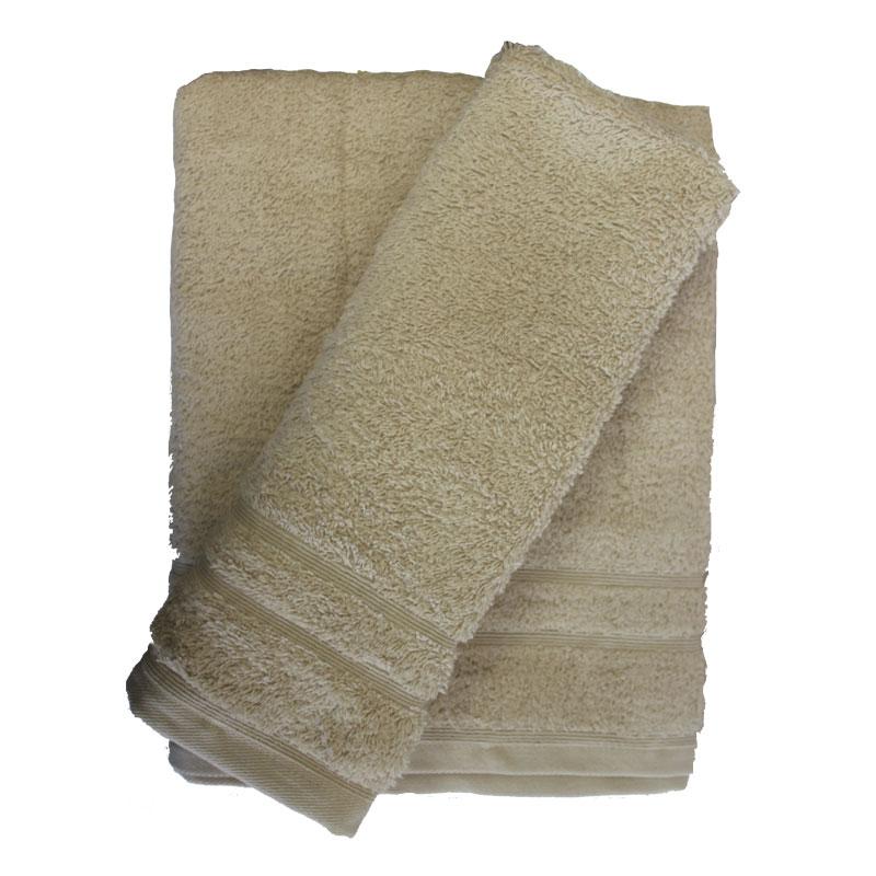 Σετ πετσέτες 2τμχ 500gr/m2 Sena Sand 24home (Ύφασμα: Βαμβάκι 100%, Χρώμα: Μπεζ) – 24home.gr – 24-sena-sand-2