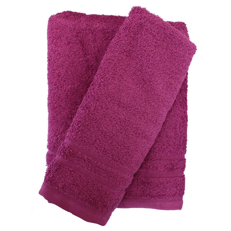 Σετ πετσέτες 2τμχ 500gr/m2 Sena Purple 24home – 24home.gr – 24-sena-purple-2