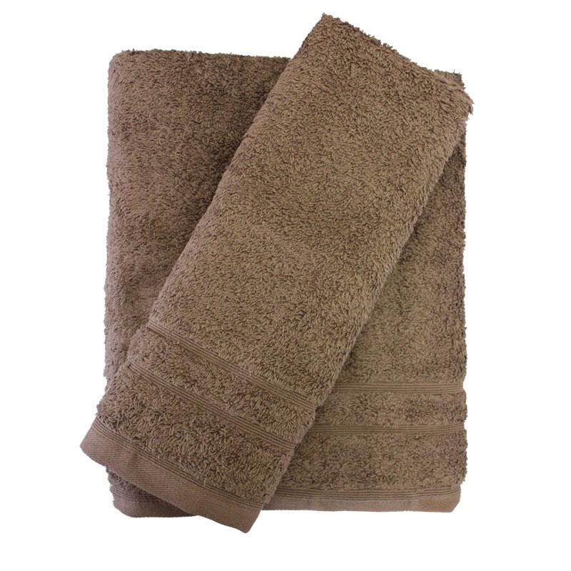 Σετ πετσέτες 2τμχ 500gr/m2 Sena Brown 24home – 24home.gr – 24-sena-brown-2