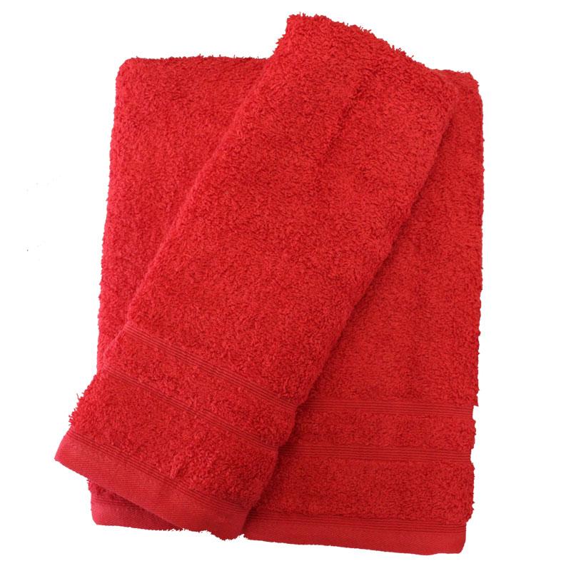 Σετ πετσέτες 2τμχ 500gr/m2 Sena Red 24home (Ύφασμα: Βαμβάκι 100%, Χρώμα: Κόκκινο) – 24home.gr – 24-sena-red-2