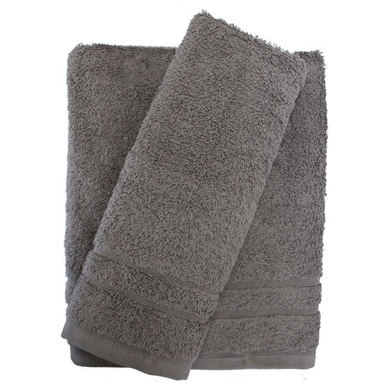 Σετ πετσέτες 2τμχ 500gr/m2 Sena Grey 24home – 24home.gr – 24-sena-grey-2