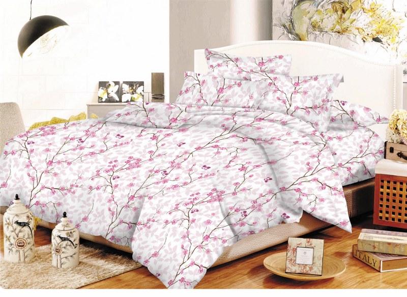 Σετ Σεντόνια Υπέρδιπλα 220×240εκ. Εμπριμέ Almendras Pink 24home – 24home.gr – almendras-pink-sent2