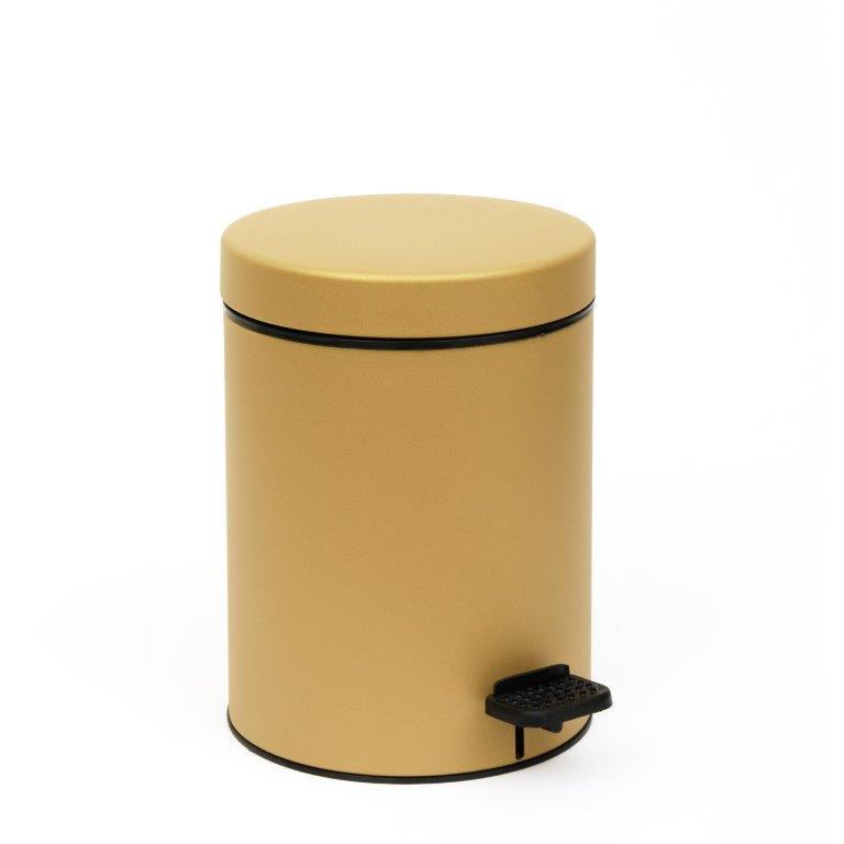 Καλάθι Απορριμμάτων 3lit Pam & Co 18x25εκ.03-605-173 (Χρώμα: Χρυσό ) - Pam & Co - 03-605-173