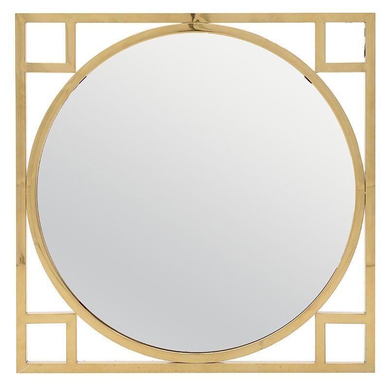 Καθρέπτης Τοίχου Μεταλλικός 70x2x70εκ. inart 3-95-529-0001 (Υλικό: Μεταλλικό, Χρώμα: Χρυσό ) – inart – 3-95-529-0001