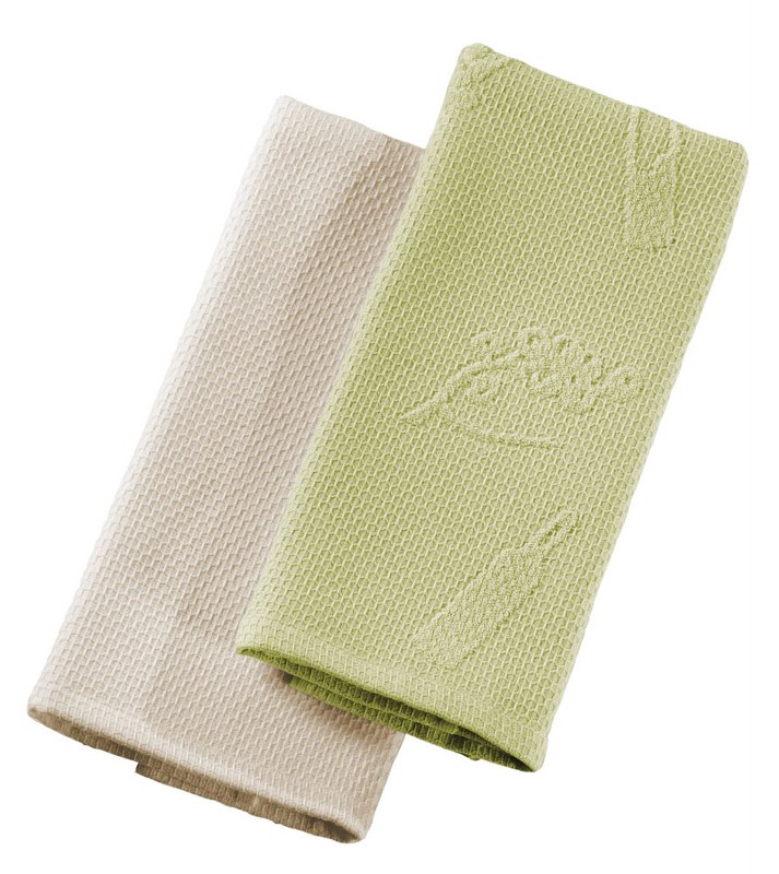 Πετσέτες Κουζίνας Σετ 2τμχ Split Beige-Olive Guy Laroche - Guy Laroche - split-beige-olive