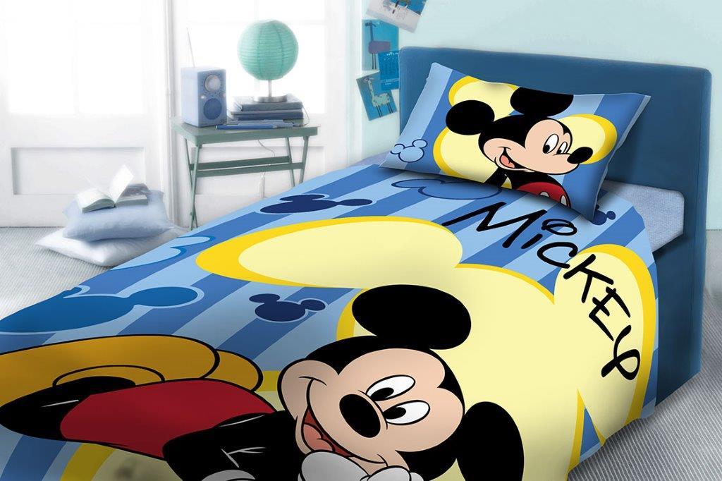 Σετ Παπλωματοθήκη Μονή 160×240εκ. Mickey 960 Digital Print Disney Dimcol – Disney – 2121615201096099