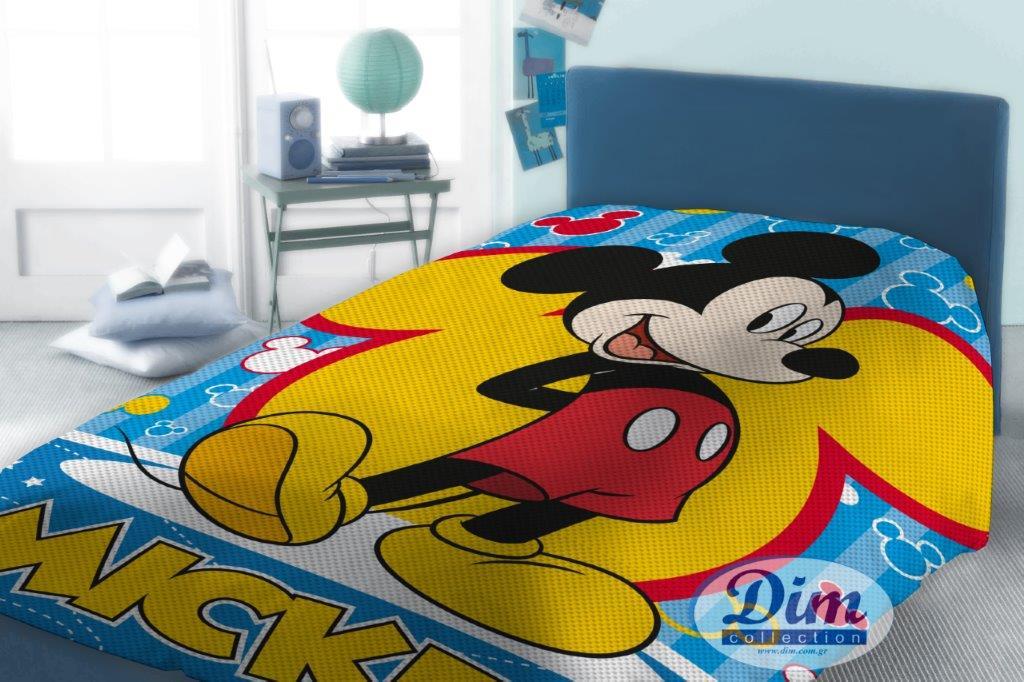 Κουβέρτα Μονή Πικέ 160×240εκ. Mickey 565 Digital Print Disney Dimcol – Disney – 2120415201056599