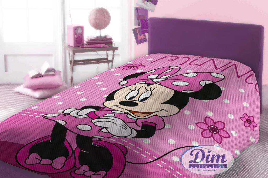 Κουβέρτα Μονή Πικέ 160×240εκ. Minnie 555 Digital Print Disney Dimcol – Disney – 2120415201155599