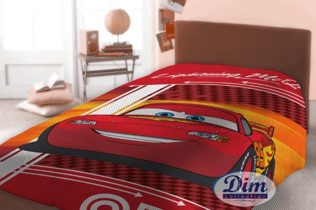Κουβέρτα Μονή Πικέ 160×240εκ. Cars 575 Digital Print Disney Dimcol – Disney – 2120415200457599