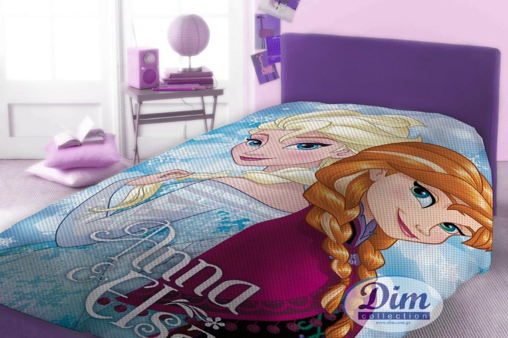 Κουβέρτα Μονή Πικέ 160×240εκ. Frozen 505 Digital Print Disney Dimcol – Disney – 2120415200650599