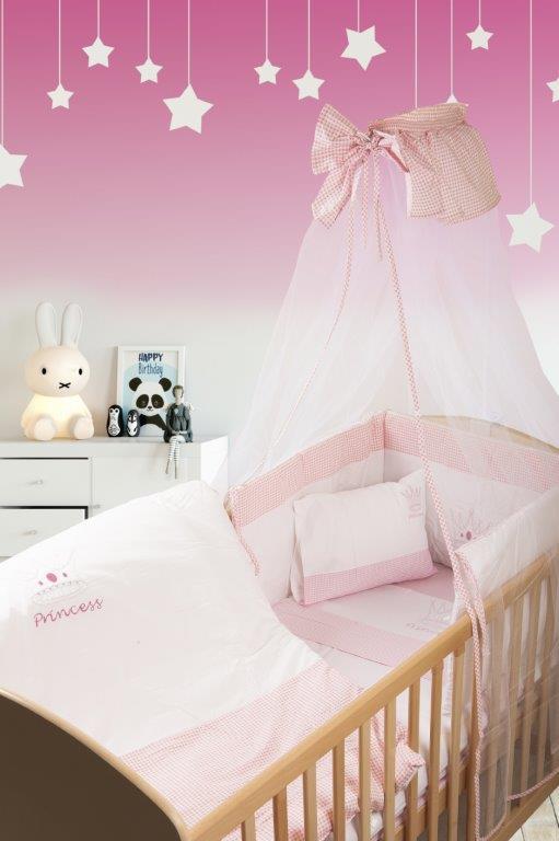 Σετ Κρεβατιού 7τμχ Μπεμπέ Princess 33 Dimcol (Ύφασμα: Βαμβάκι 100%, Χρώμα: Λευκό) – DimCol – 1212510001503319