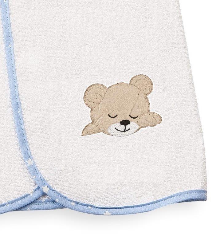 Κάπα Μπεμπέ 80×80εκ. Sleeping Bear Cub 11 Dimcol (Ύφασμα: Βαμβάκι 100%, Χρώμα: Λευκό) – DimCol – 1210013601701120