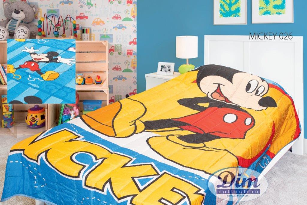 Κουβερλί Διπλής Όψεως Μονό 160×250εκ. Mickey 026 Digital Print Disney Dimcol – Disney – 2120135301002699
