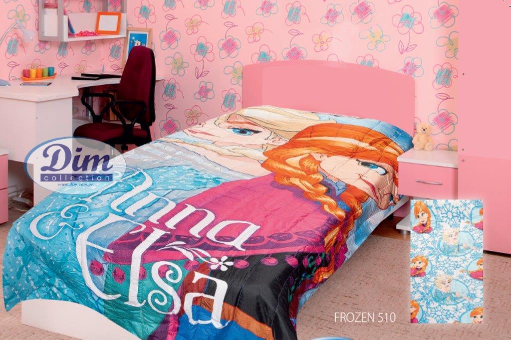 Κουβερλί Διπλής Όψεως Μονό 160×250εκ. Frozen 510 Digital Print Disney Dimcol – Disney – 2120135300651099