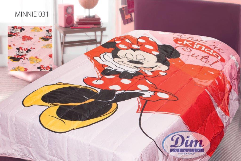 Πάπλωμα Διπλής Όψεως Μονό 160×250εκ. Minnie 031 Digital Print Disney Dimcol – Disney – 2121535301103199