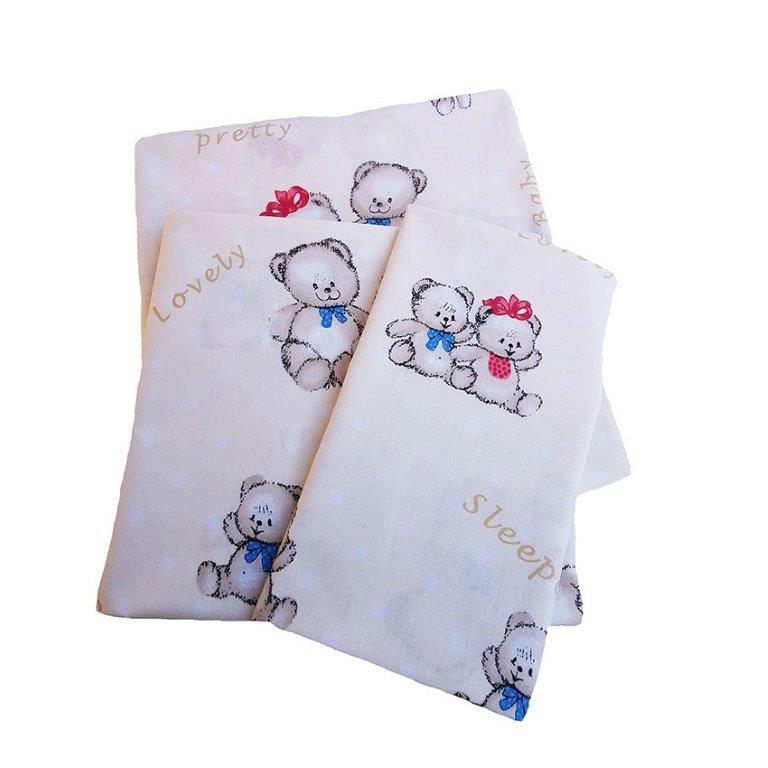 Σεντόνι Λίκνου Μεμονωμένο 80×110εκ. Two Lovely Bears 67 Dimcol – DimCol – 1914413706906778