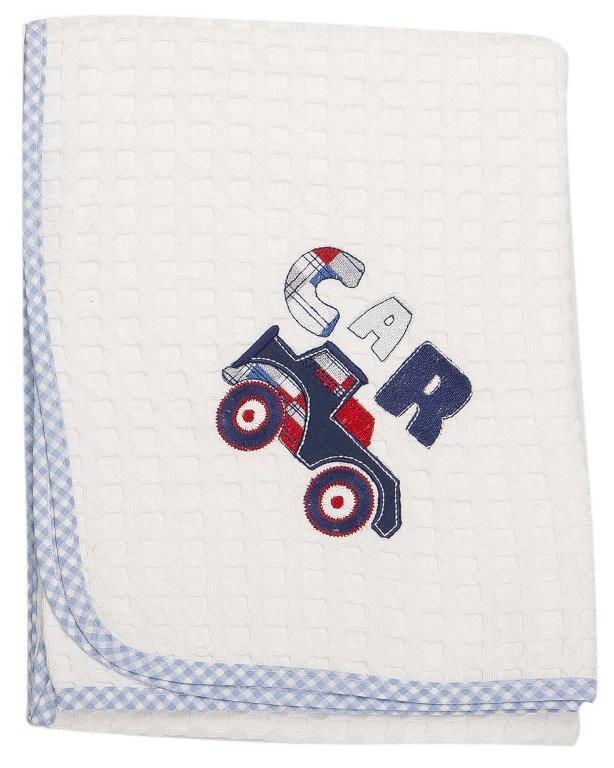 Κουβέρτα Αγκαλιάς Πικέ 80×110εκ. Car 32 Dim Collection – DimCol – 1210413700303220