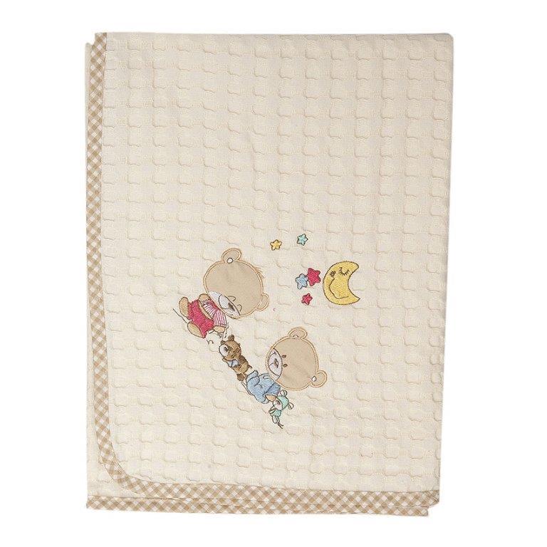 Κουβέρτα Αγκαλιάς Πικέ 80×110εκ. Happy Bears 22 Dim Collection – DimCol – 1210413700802207