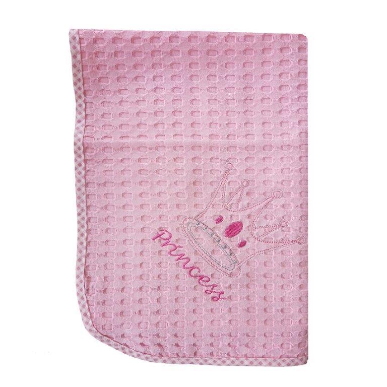 Κουβέρτα Αγκαλιάς Πικέ 80×110εκ. Princess 35 Dim Collection (Ύφασμα: Βαμβάκι 100%, Χρώμα: Ροζ) – DimCol – 1210413701503526
