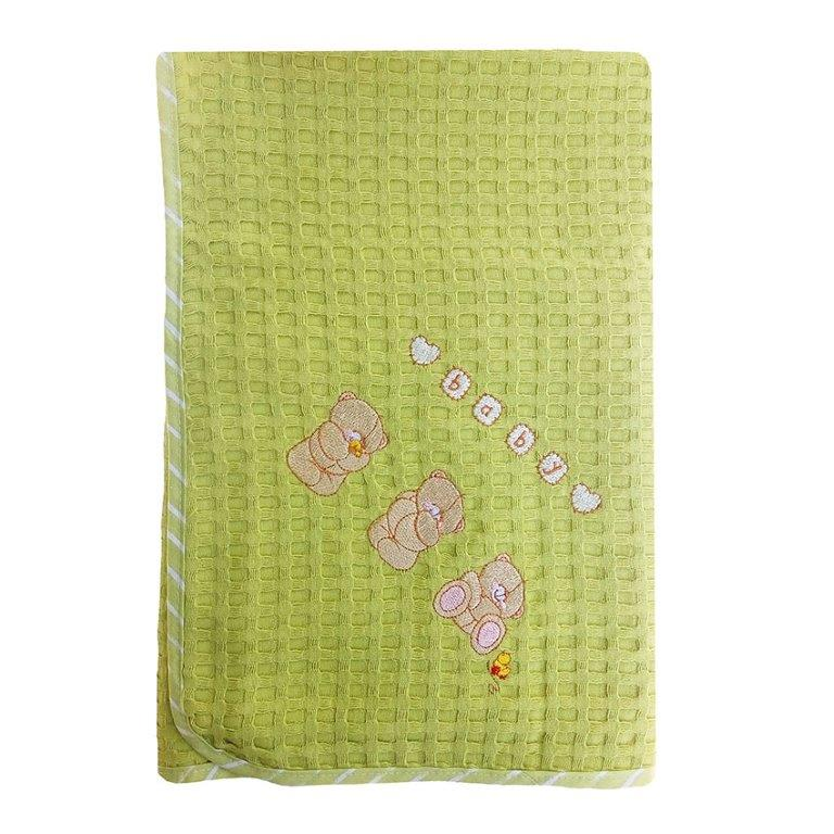 Κουβέρτα Αγκαλιάς Πικέ 80×110εκ. Αρκουδάκια 110 Dim Collection – DimCol – 1210413702811016