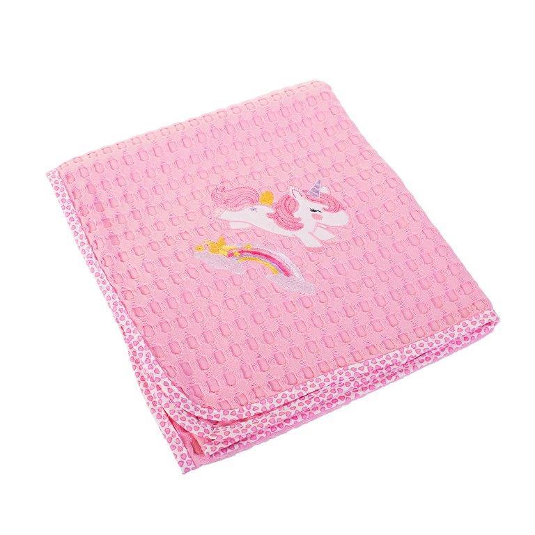 Κουβέρτα Αγκαλιάς Πικέ 80×110εκ. Unicorn 41 Dim Collection – DimCol – 1210413706404126